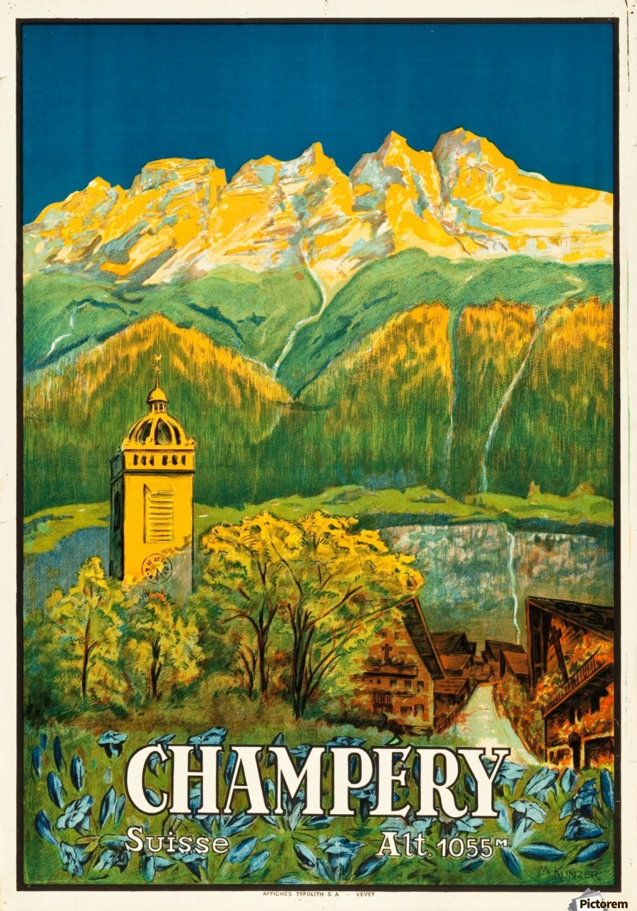 Switzerland Travel Poster Acrylic Print Canvas