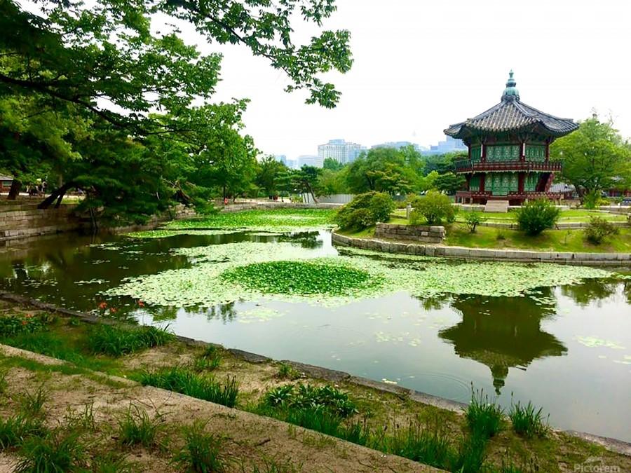 Korean Temple  Print