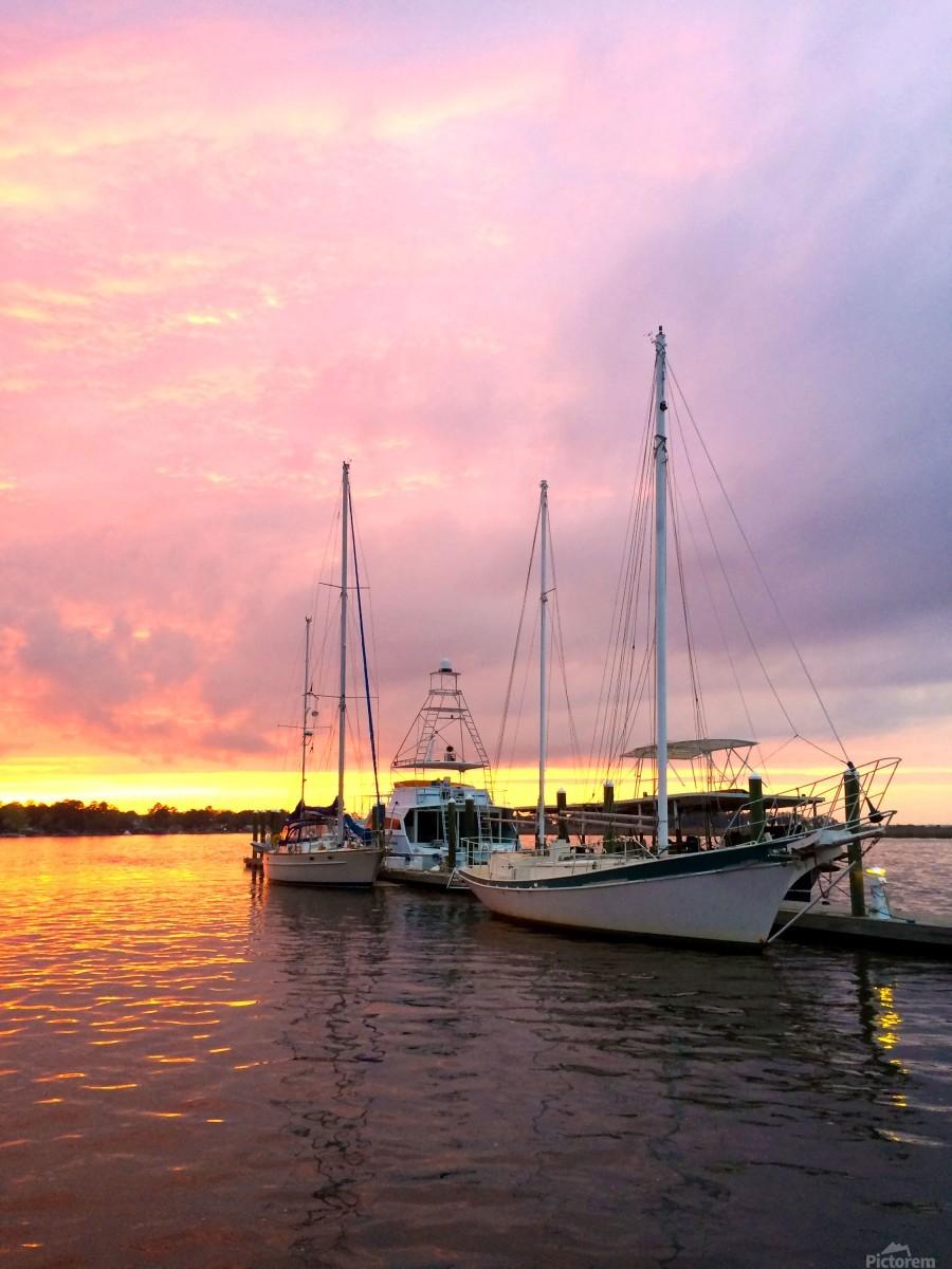 Sunset Sailboat  Print