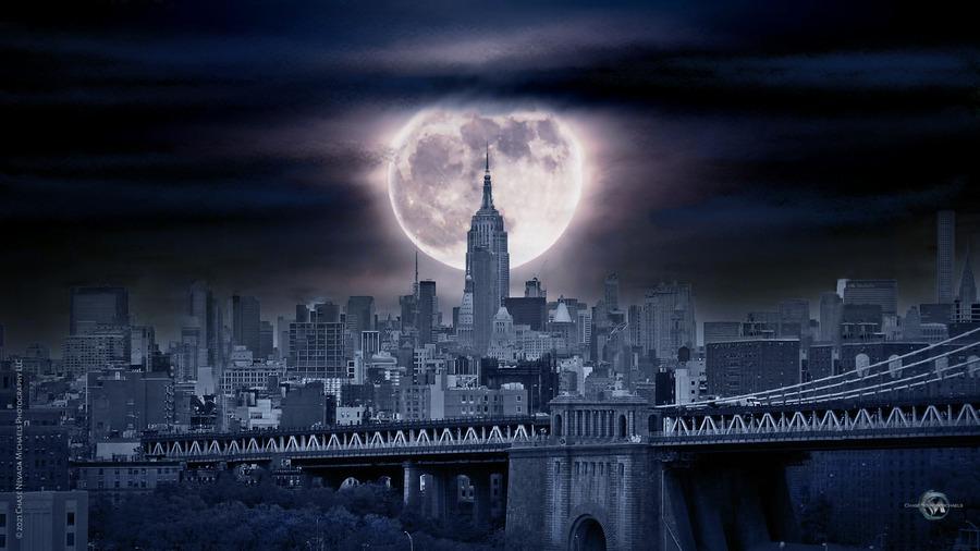 Between The Moon & NYC  Print