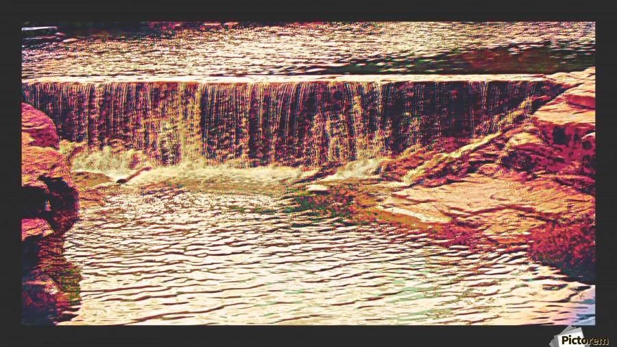 Medicine Park waterfall pic art , Chazzi R  Davis ,