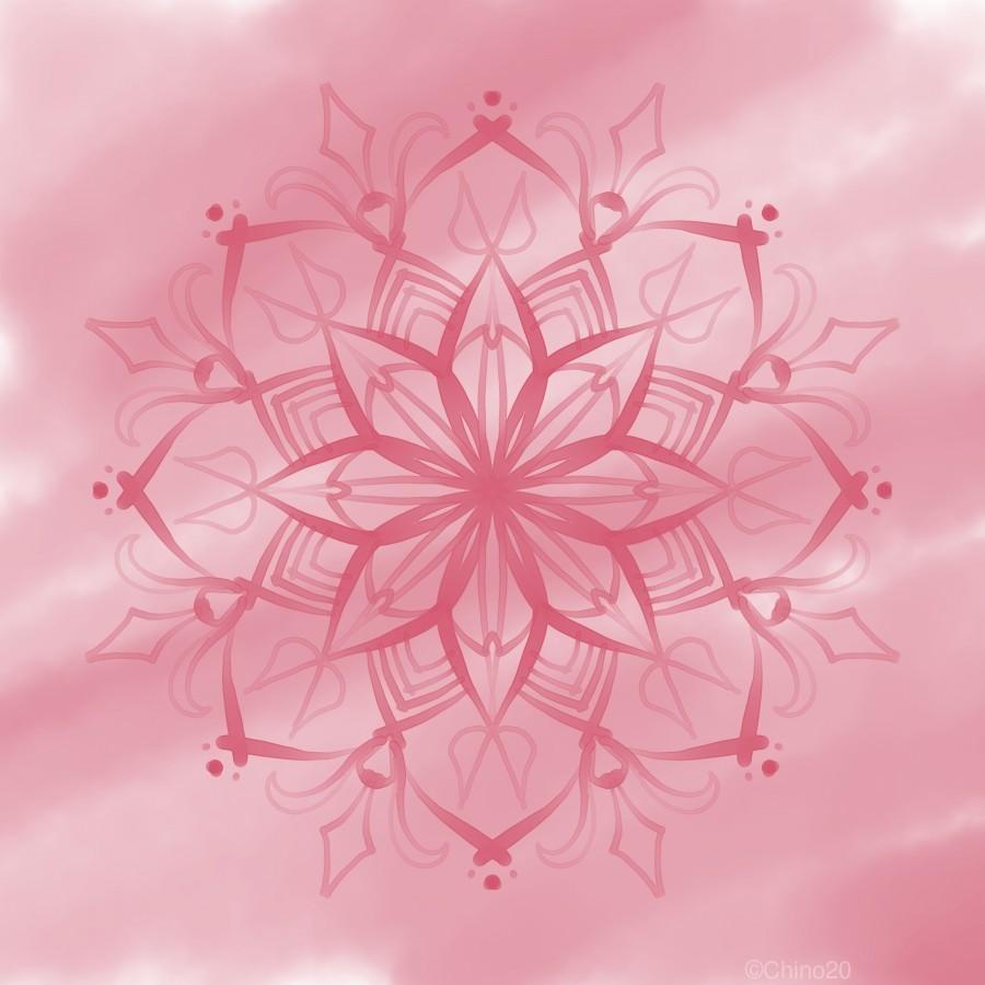 pink mandala  Print