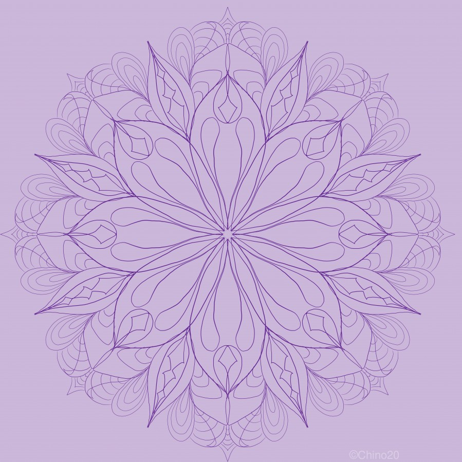 lilac mandala  Print