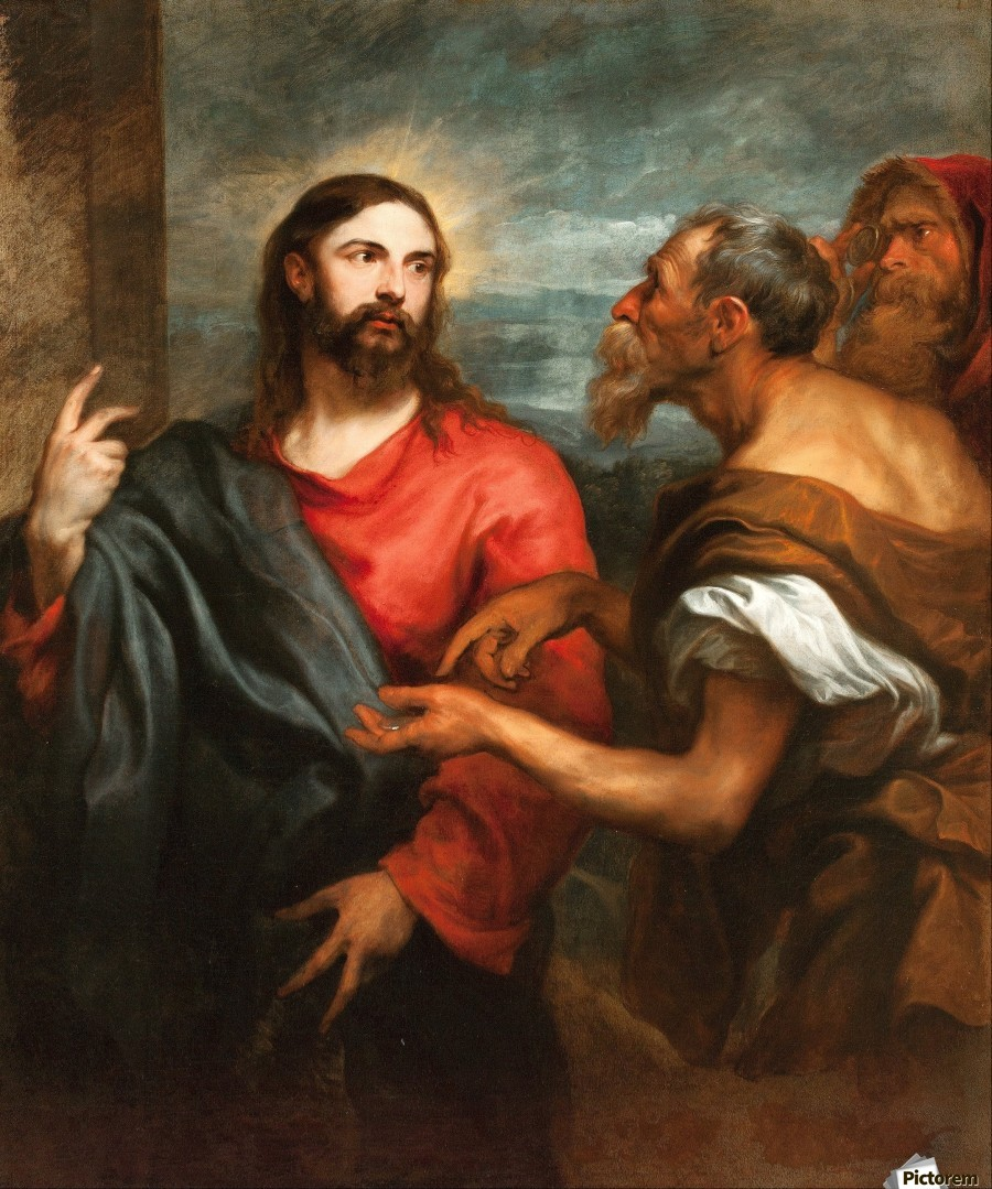 Christ of the Coin - Anthony van Dyck - Canvas Artwork