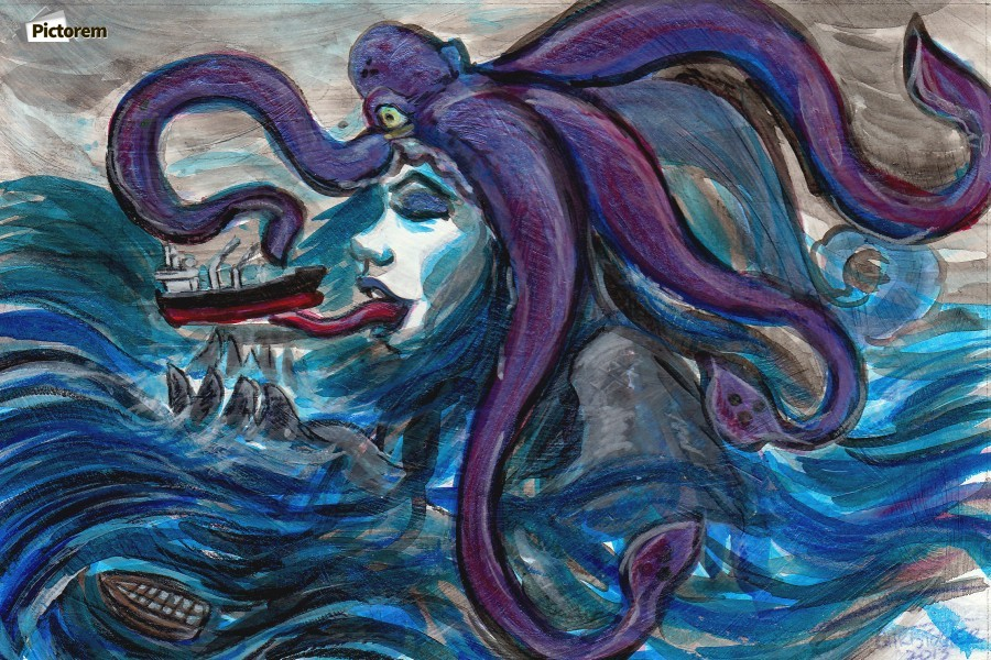 Sea Monster, 1  Print