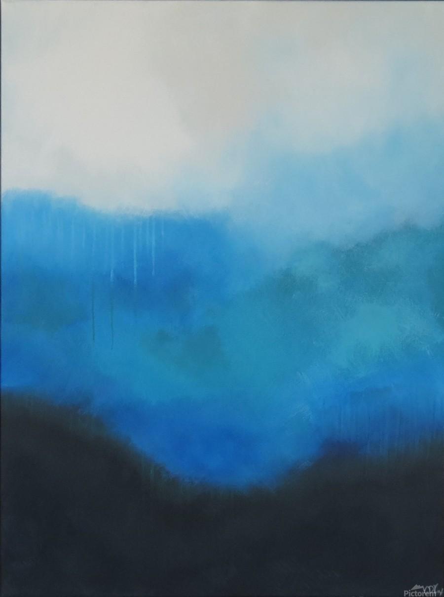 Tranquility Blue II.  Print