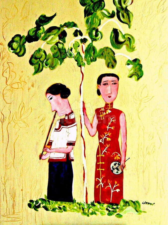 Two Chinese Ladies  Print
