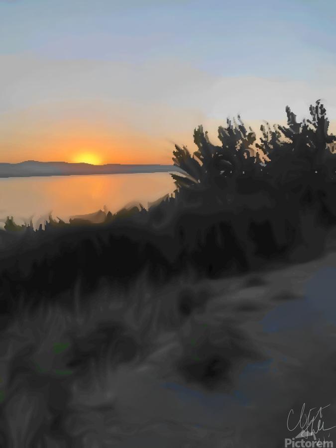 Sunset Over Lake  Print