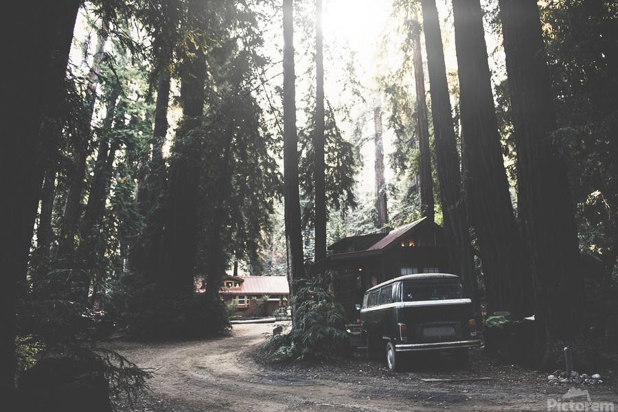 Big Sur Camping  Print