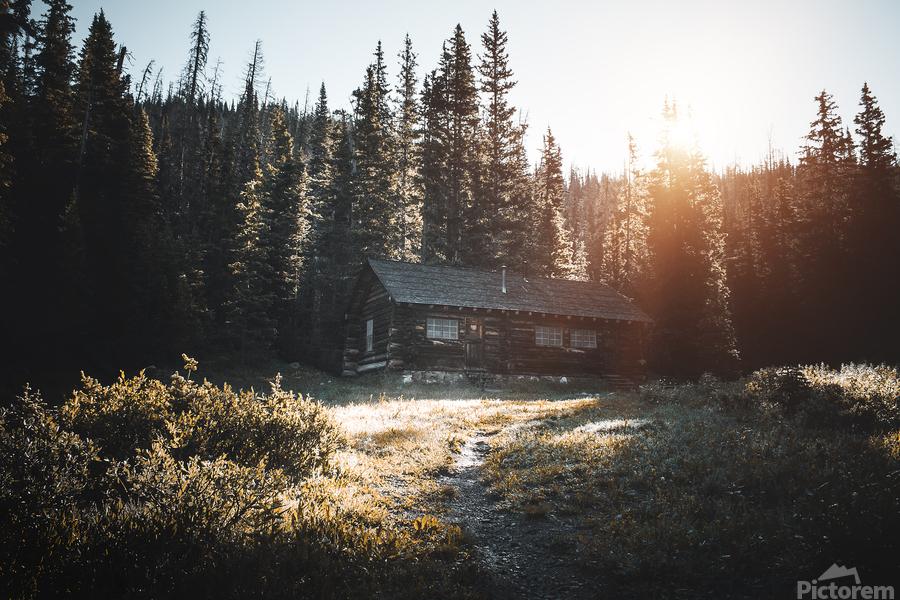Rocky Mountain Cabin  Print