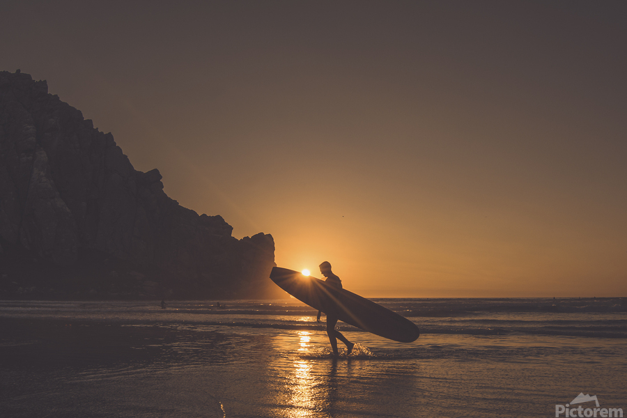 Morro Bay Surfer  Print