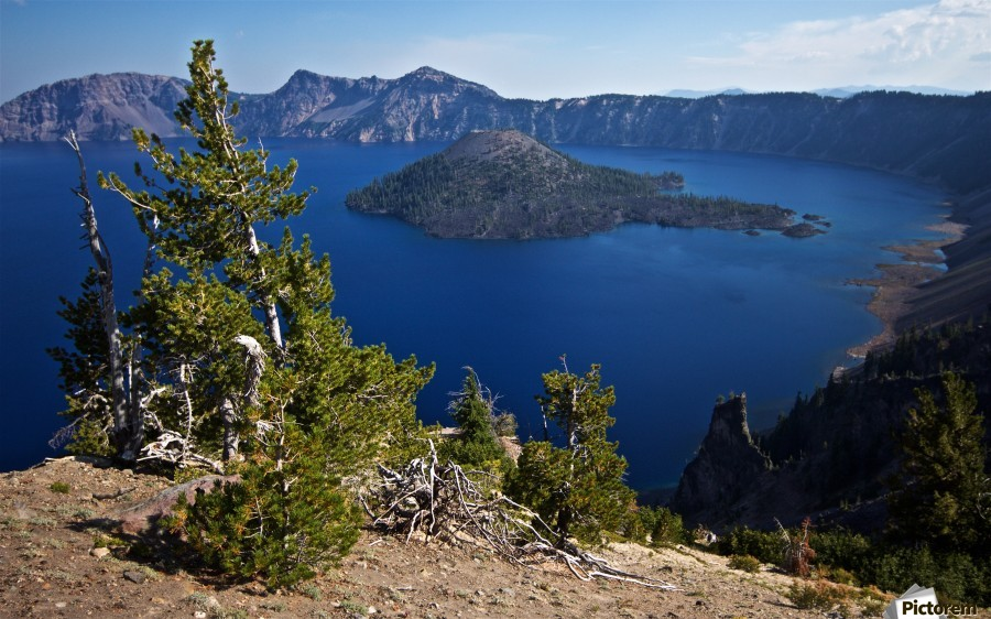 Crater Lake Scenic Aug, 2015  Print