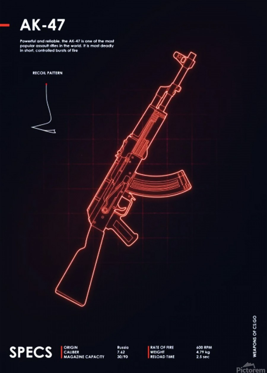 AK-47 CSGO WEAPON  Print