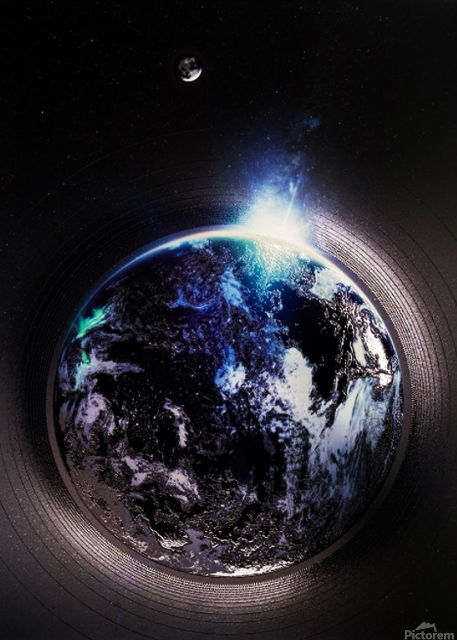 Cosmic Sapphire  Print