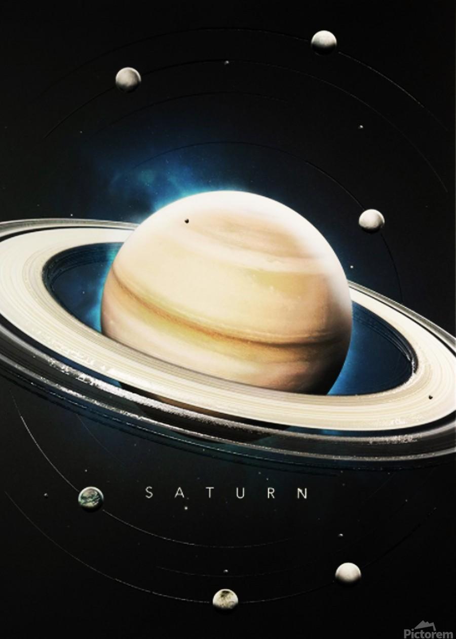 Destination Saturn  Print