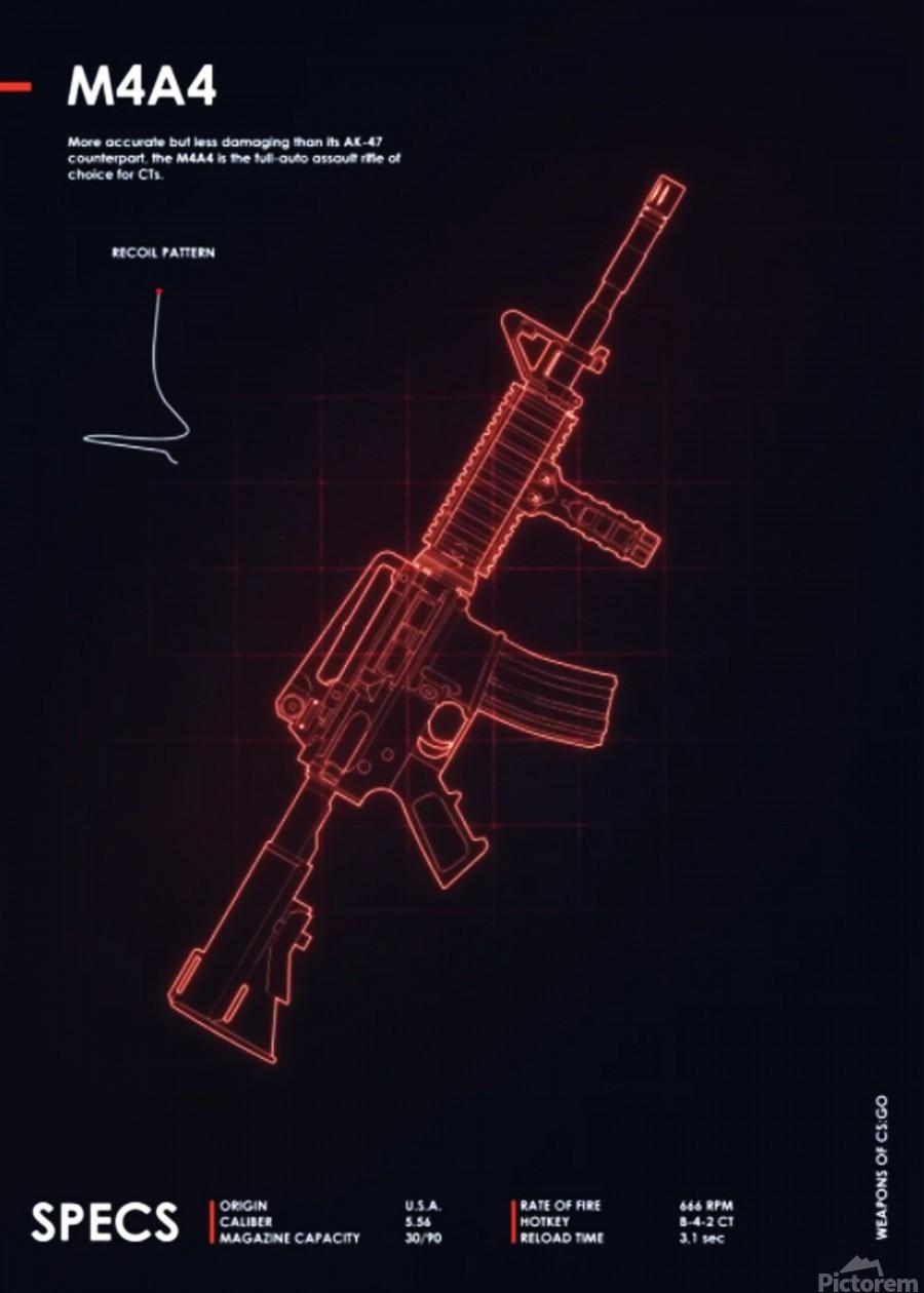 M4A4 CSGO WEAPON  Print