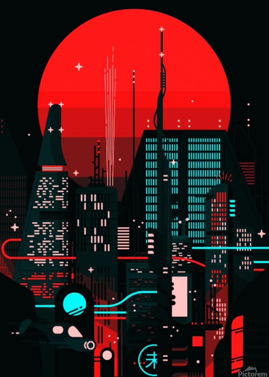 Neon City  Print