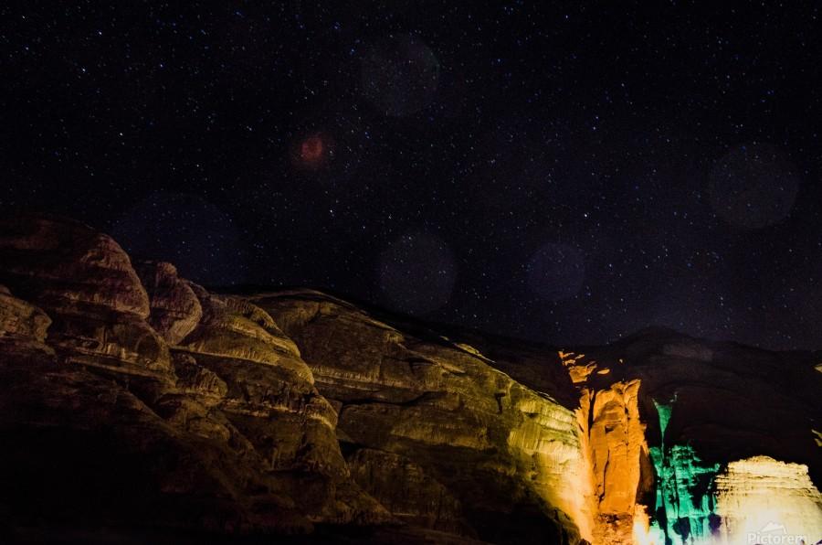 Starry Night - Al-Ula Monuments Saudi Arabia  Print