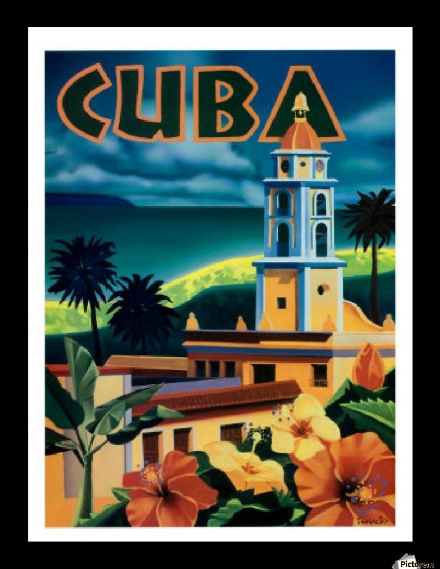 Cuba Exotic Destination Travel Poster Vintage Poster Canvas