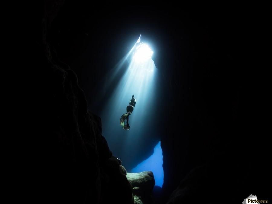 Dark cave  Print