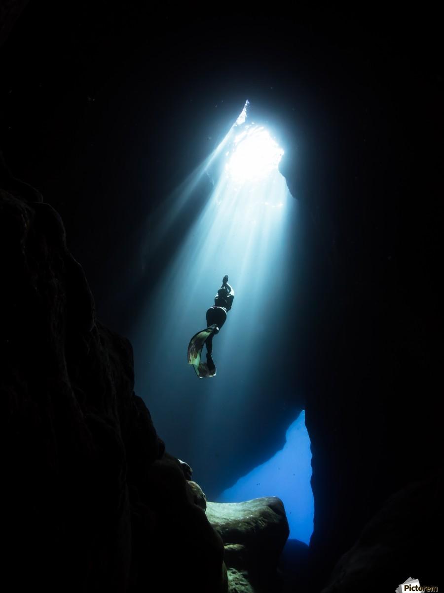 dark cave ver  Print
