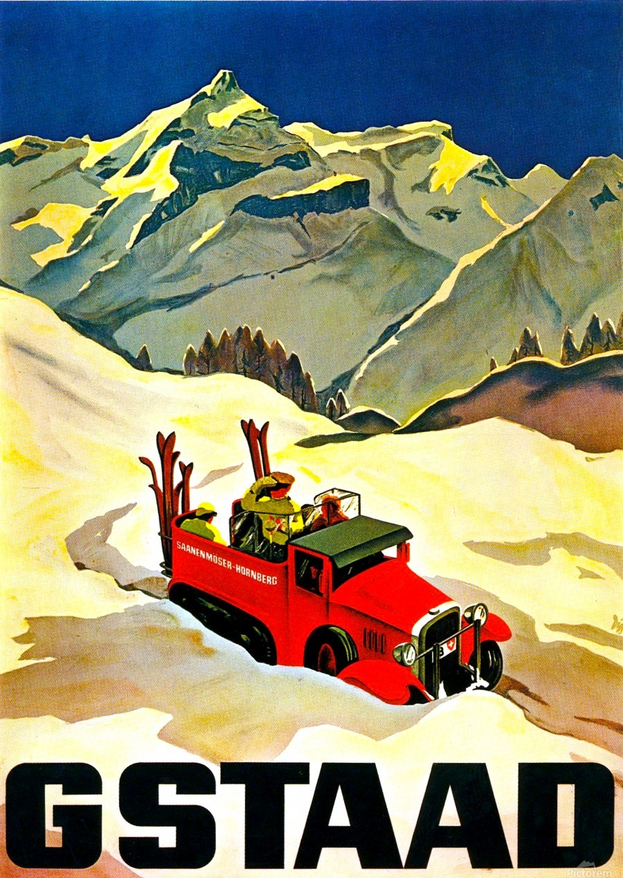 Vintage Travel - Gstaad  Print
