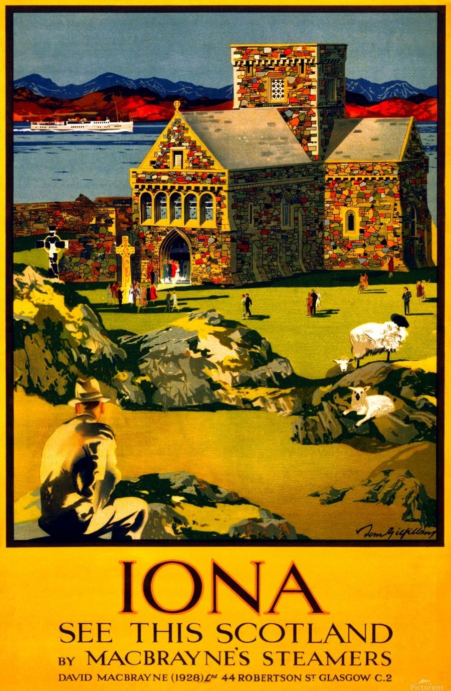 Vintage Travel - Iona Scotland  Print