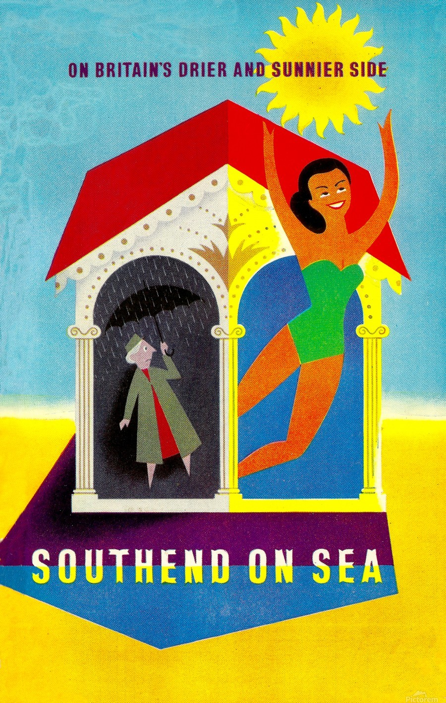 Vintage Travel - Southend on Sea  Print