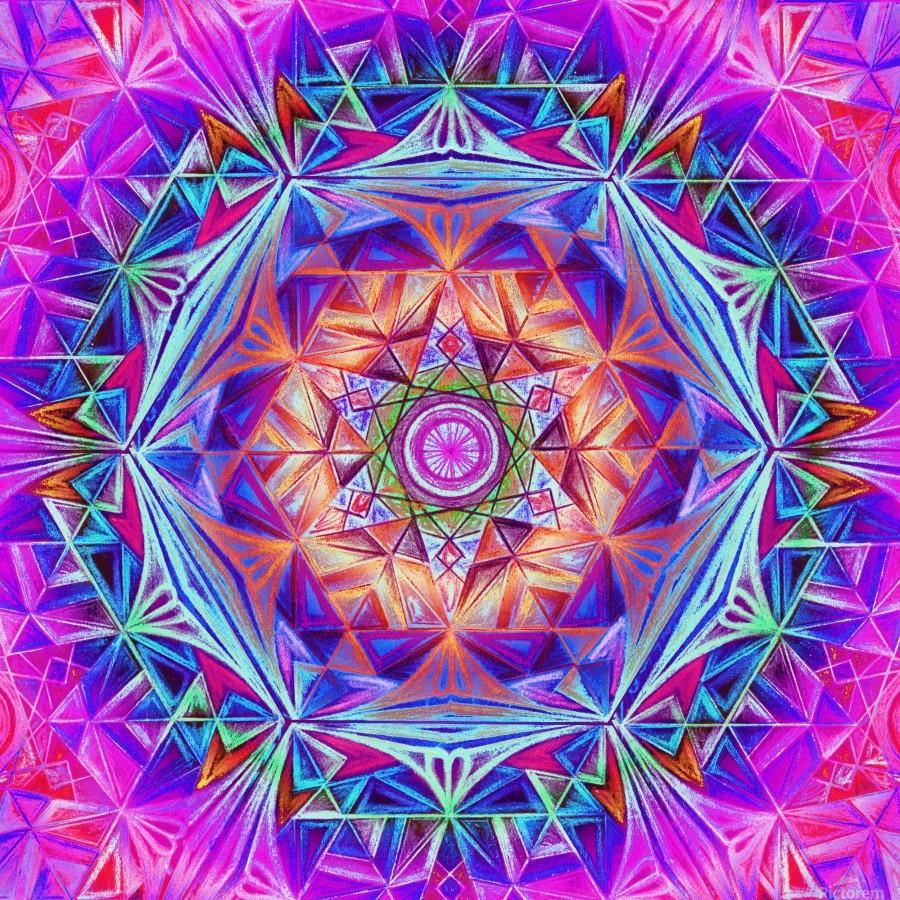 Sacred Geometry Mandala Handdrawing  Print