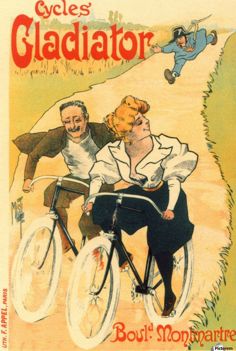 Cycles Gladiator poster in 1897  Print