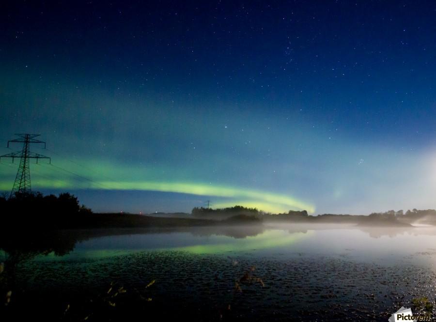 Moonlit Aurora  Print