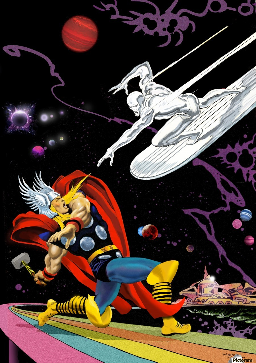 Marvel: Thor vs The Silver Surfer  Print