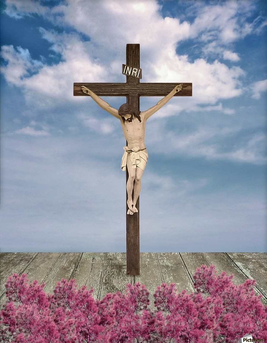 Jesus on the Cross Illustration  Print
