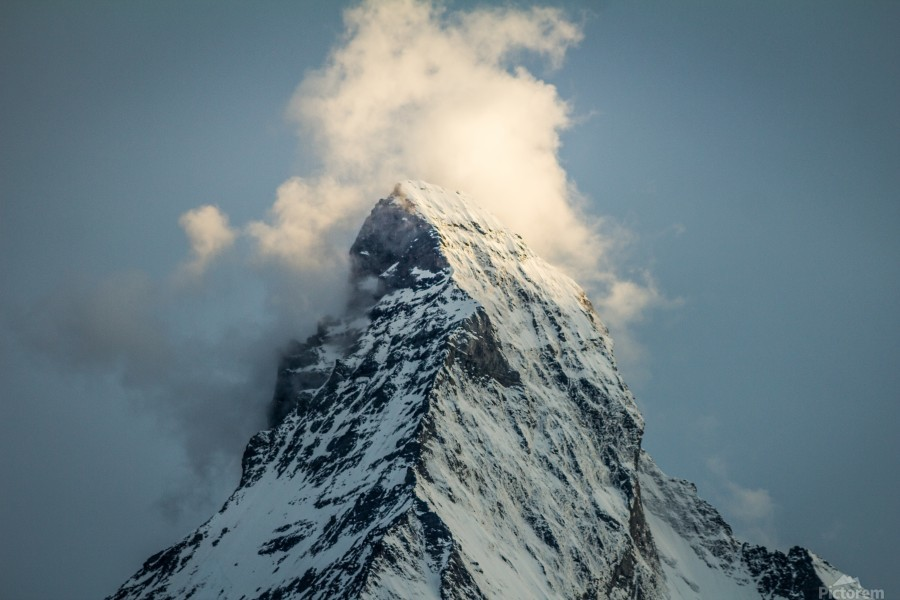 Matterhorn Glow Blue  Print