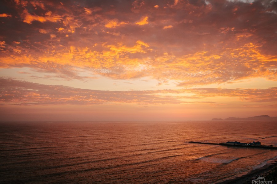 Lima Sunset  Print