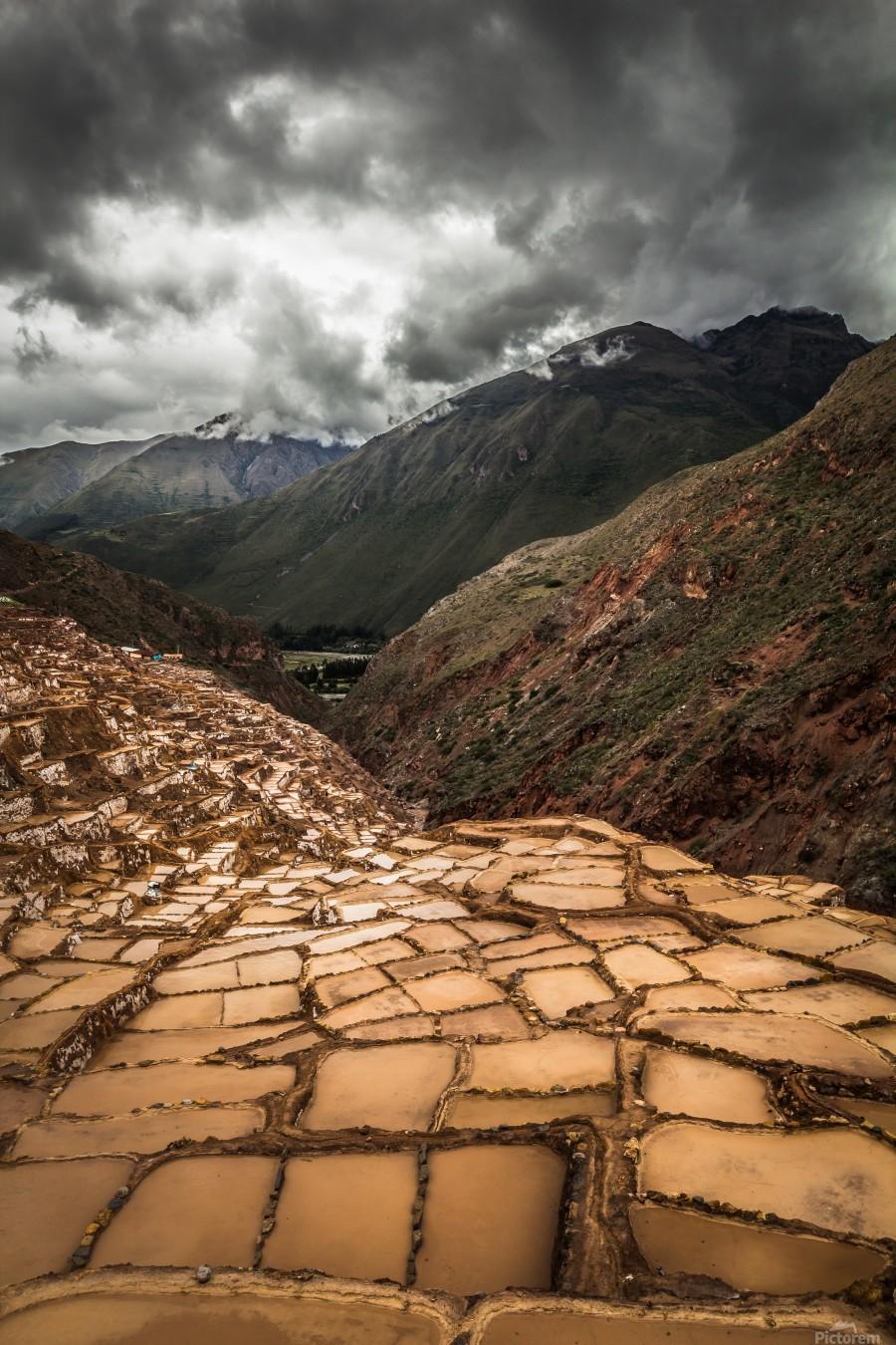 Maras Salt Mines  Print