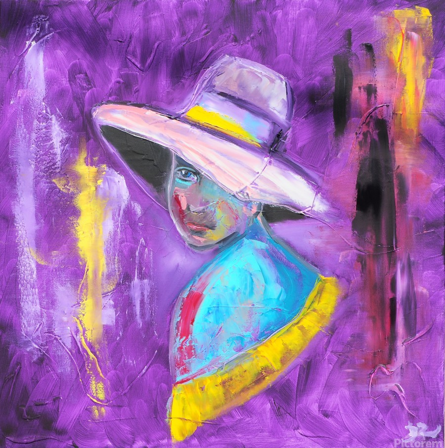 Woman in violet  Print