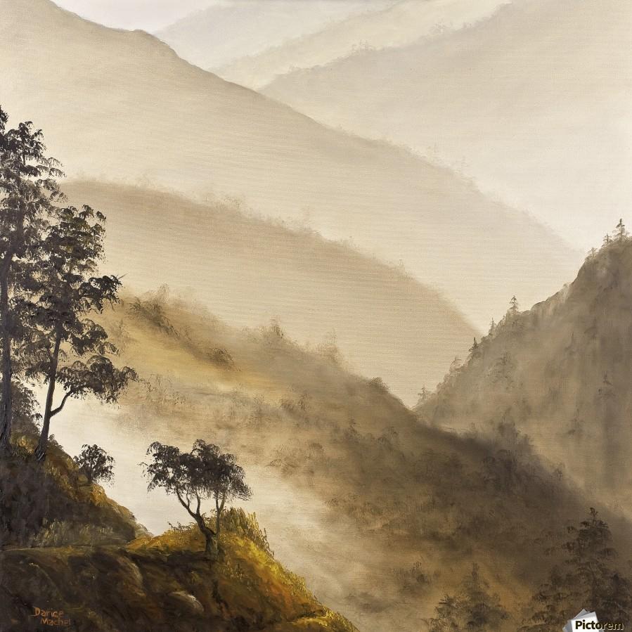 Misty Hills  Print