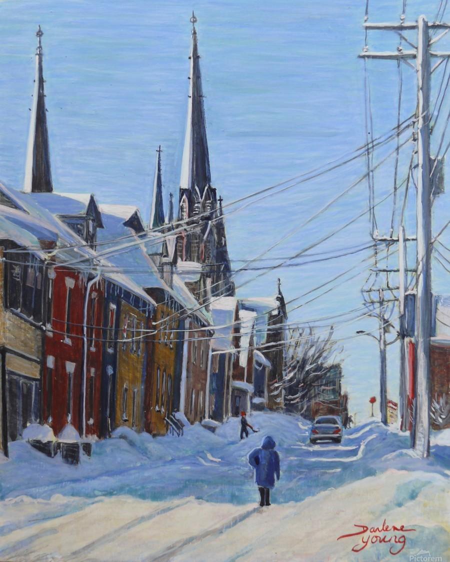 Charlottetown Winter Scene  Print