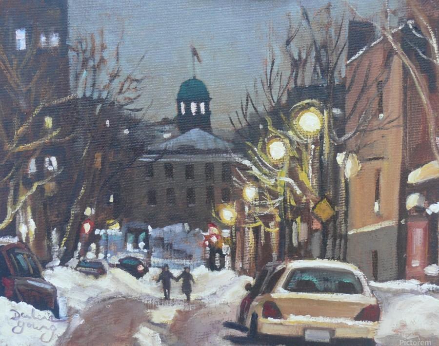 McGill Ghetto Night Scene  Print