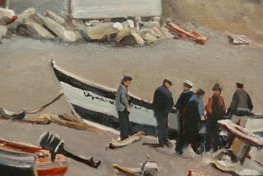 Fixing the Boat Gaspe  Print