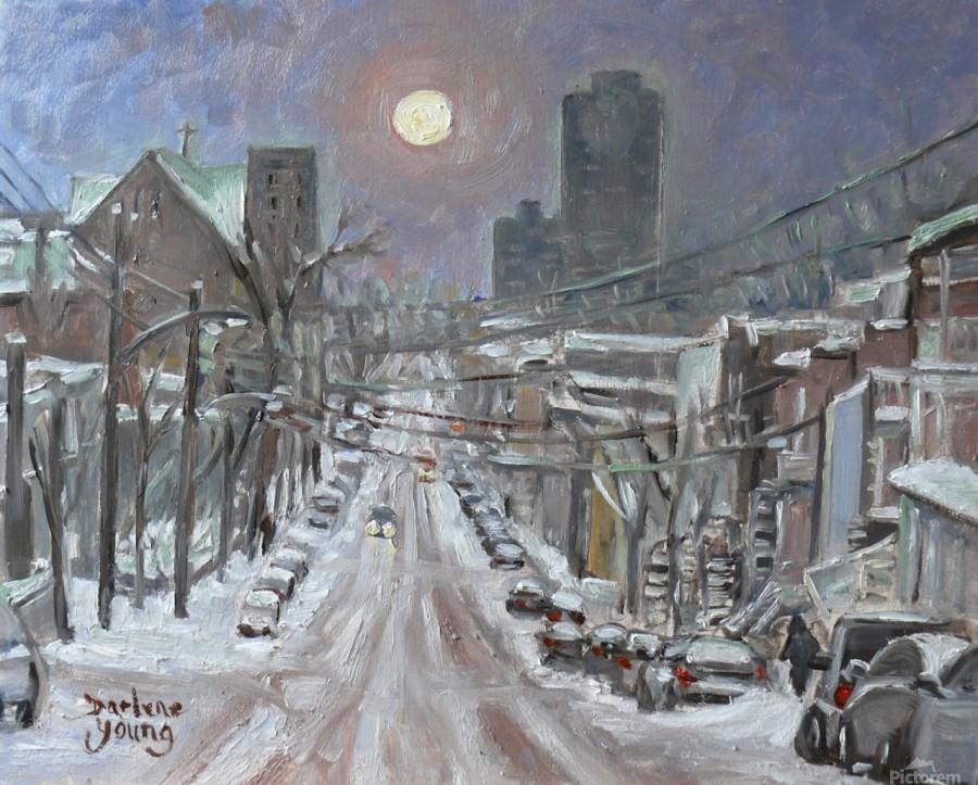 Full Moon Over Montreal  Print