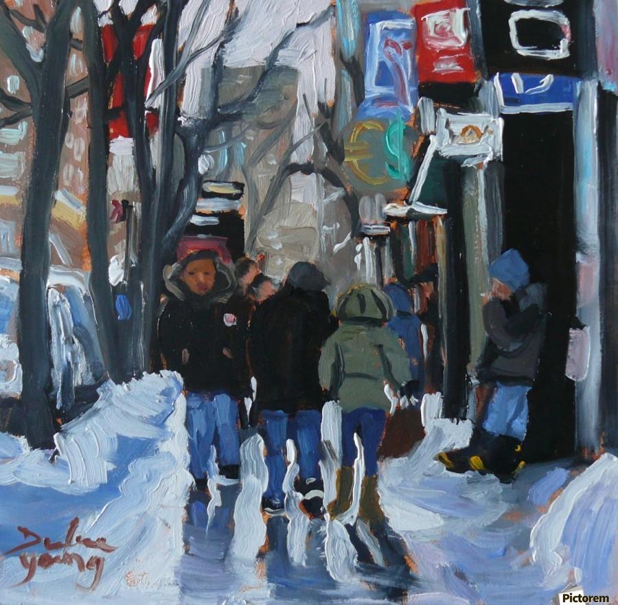 Montrel winter Scene, Ste-Catherine  Print