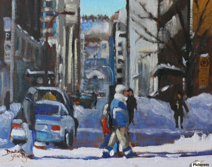 Montreal Winter Scene, Drummond  Print