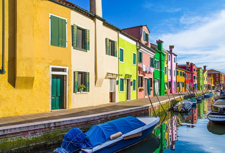 Boats in Burano  Print