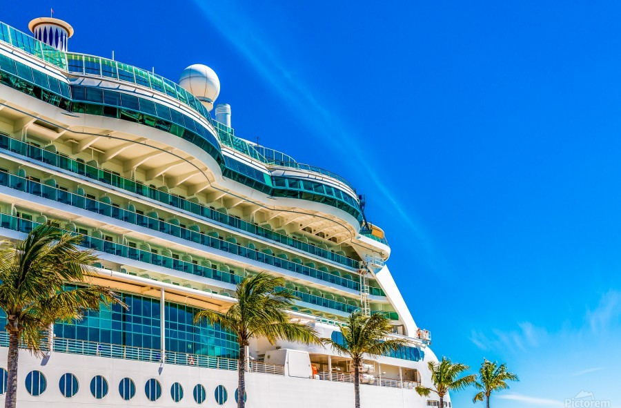 Cruise Ship in Paradise  Print