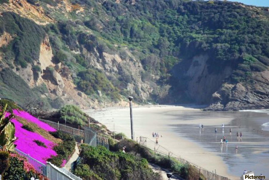 Secluded Cali fornia Beach  Print
