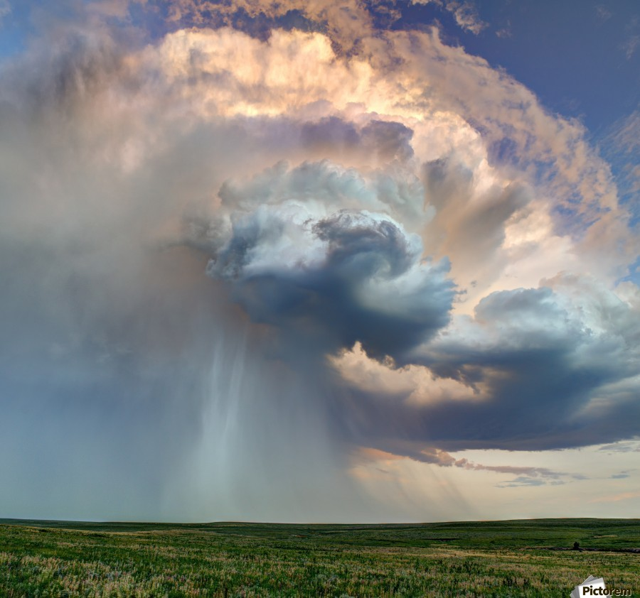 July Rain Storm  Print