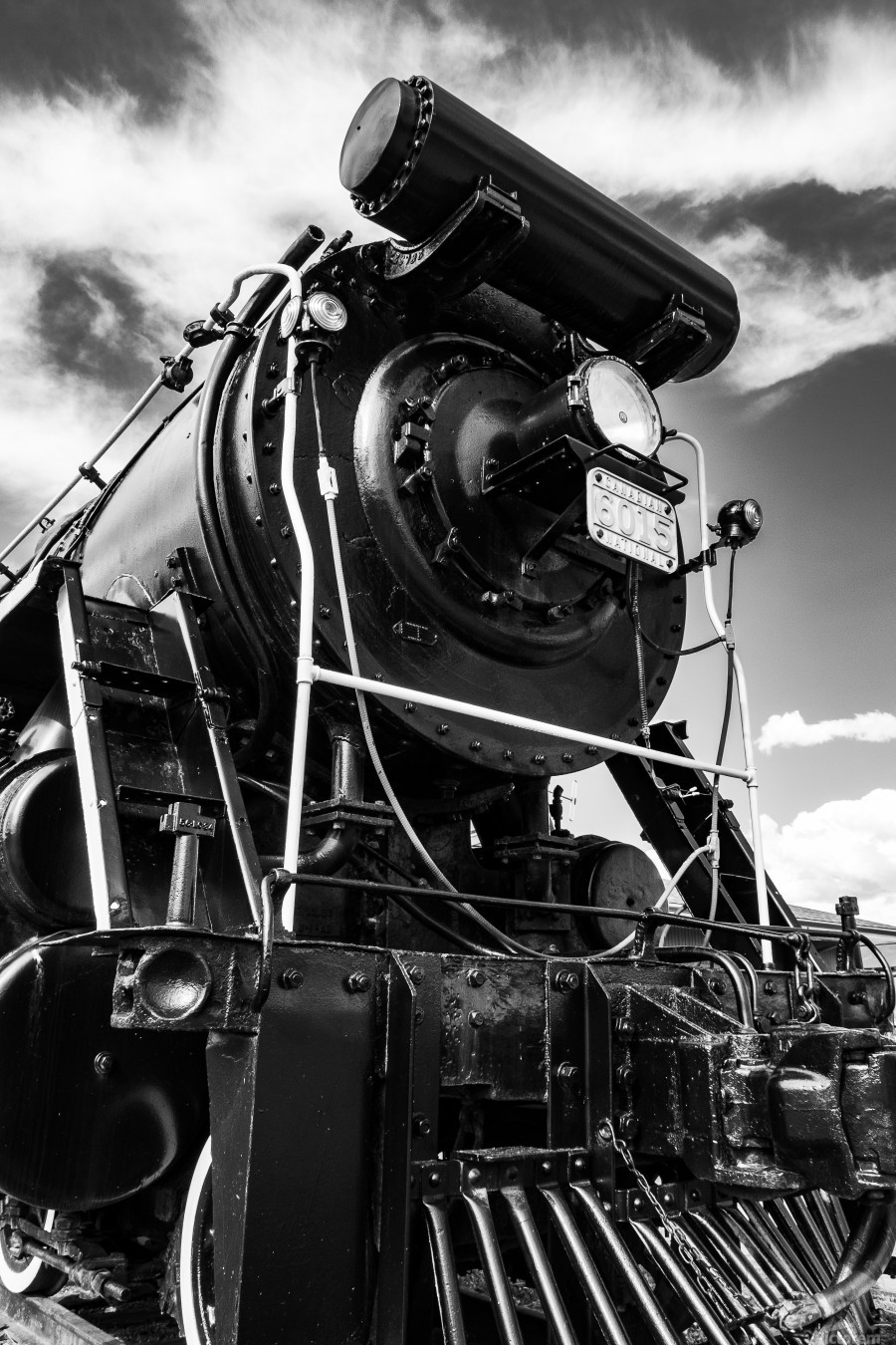 Canadian Steam Locomotive 6015 B  Print
