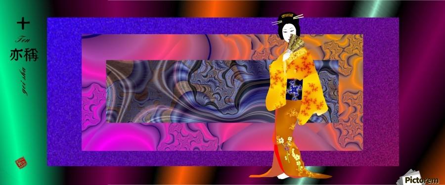 geishaYellowWith  Print